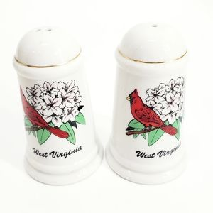West Virginia Carinal Ceramic  S&P Shaker Set
